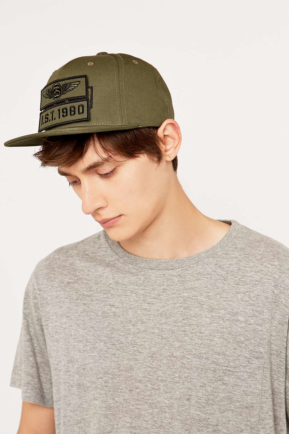 bf00271f1d0 Stussy Patches Strap-back Cap in Green for Men - Lyst