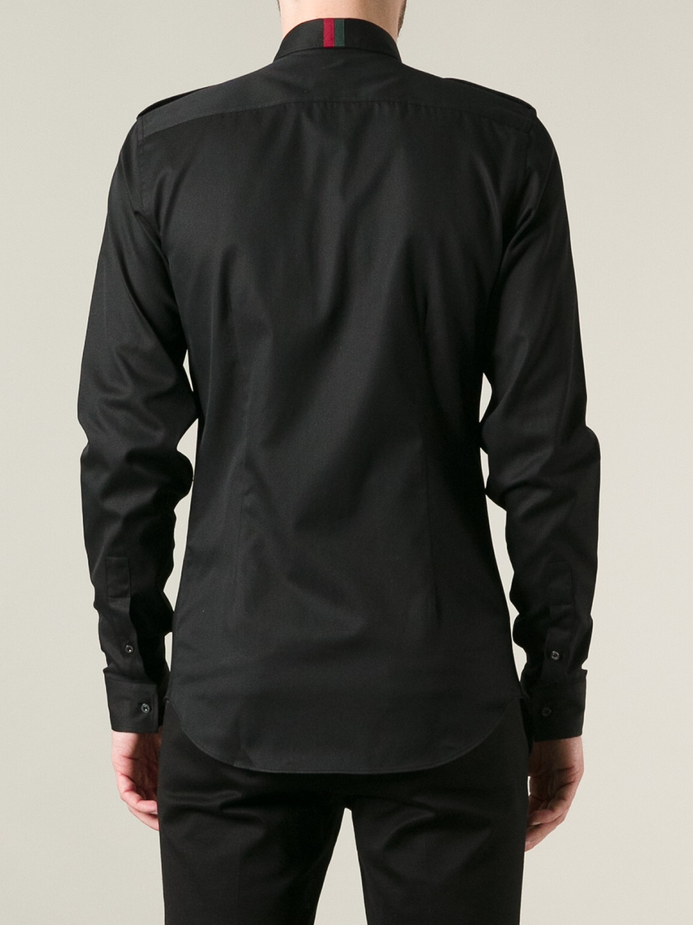 Men Black Long Sleeve Shirt