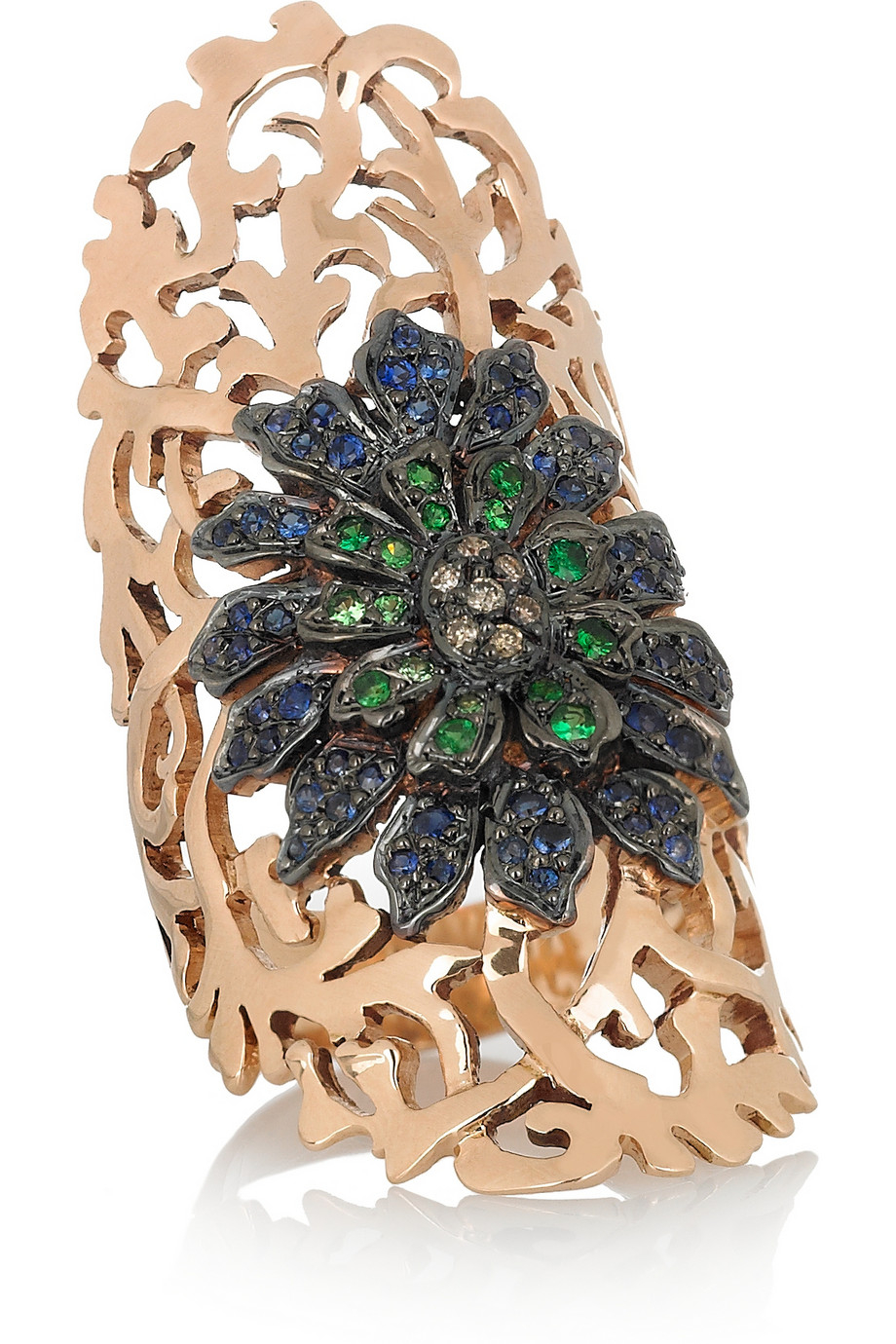 Lyst Ileana Makri Shield 18 Karat Rose Gold Multi Stone