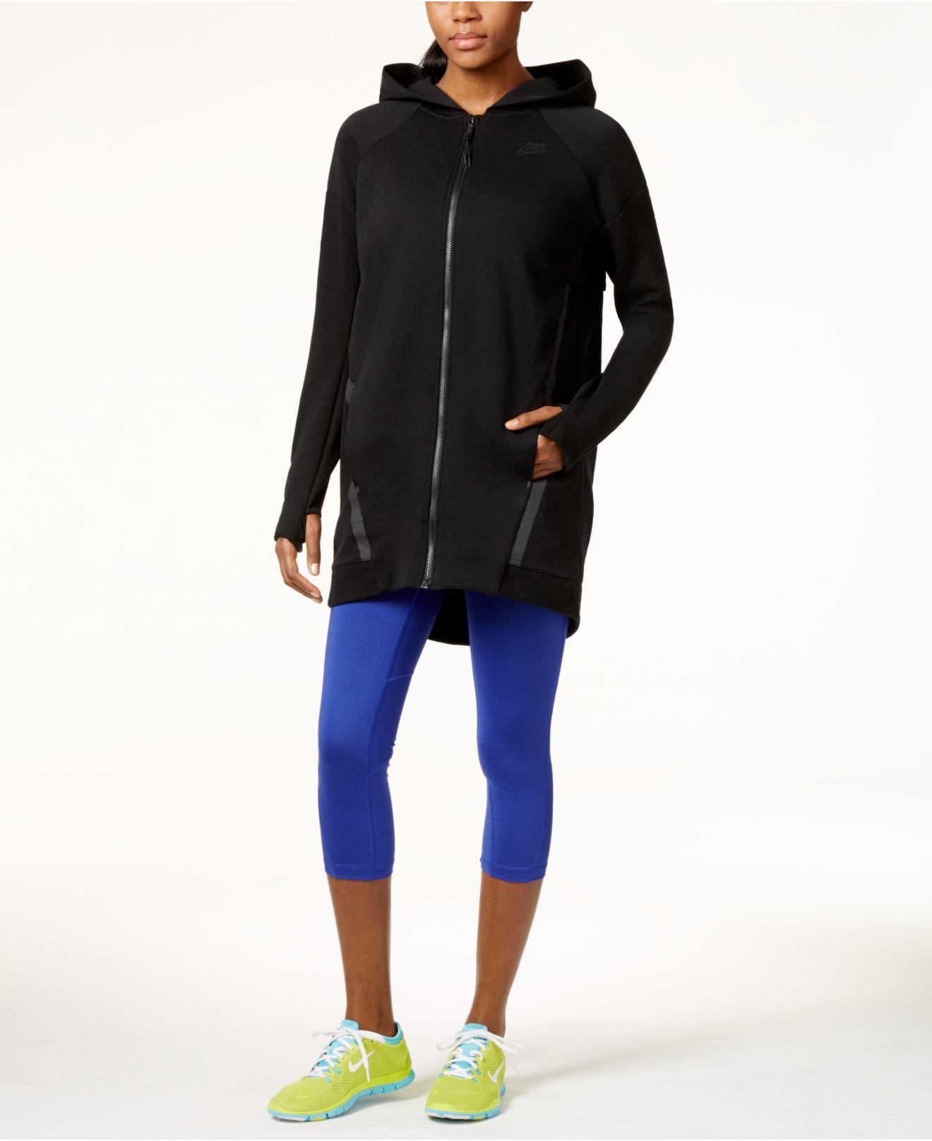 7fdb132371fb Lyst - Nike Tech Fleece Cocoon Jacket in Black