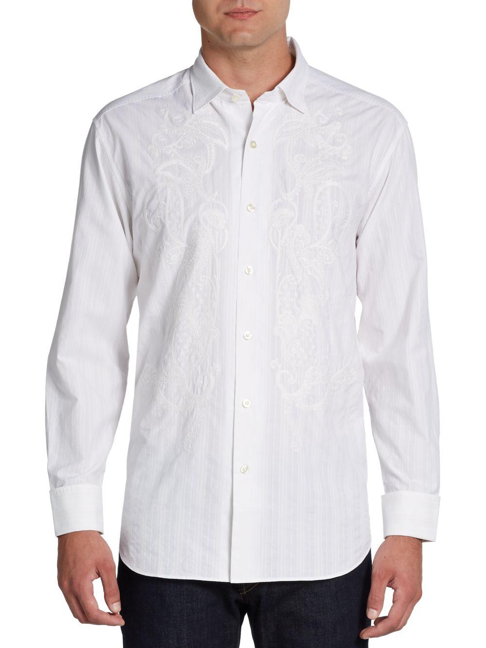 Tommy bahama casablanco embroidered cotton silk sportshirt for Custom tommy bahama shirts