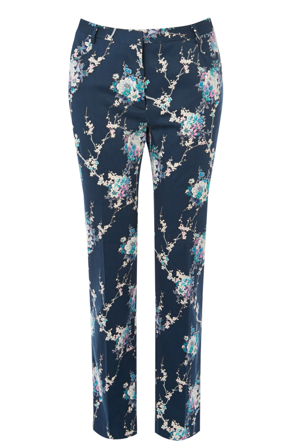 oasis caitlin trousers in blue lyst