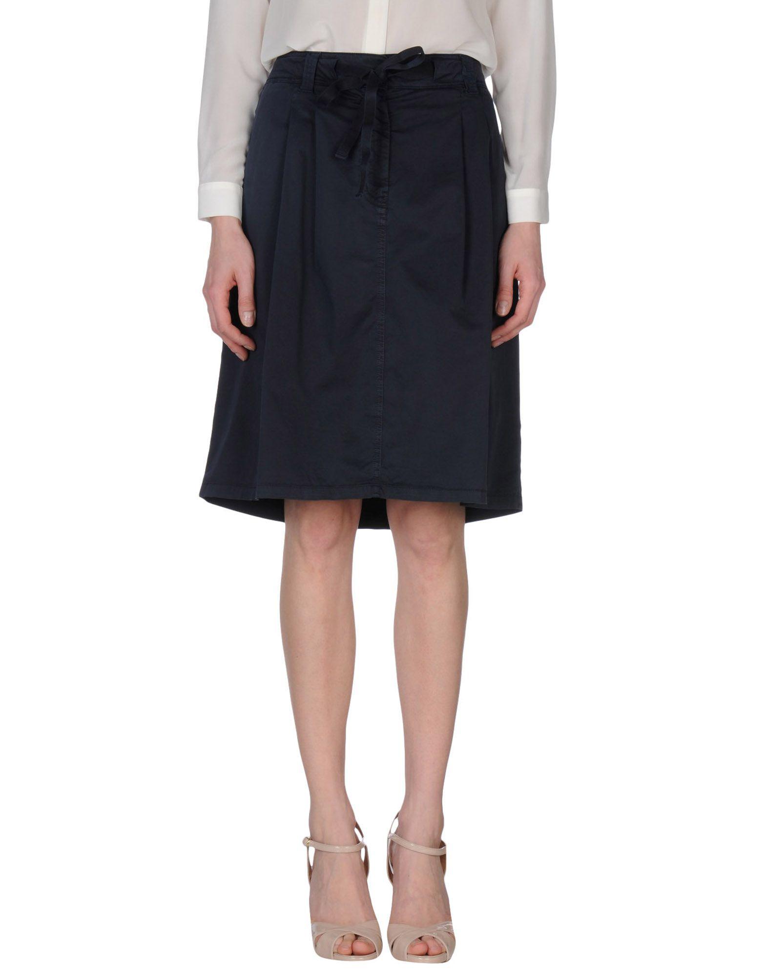 henry cotton s knee length skirt in black lyst