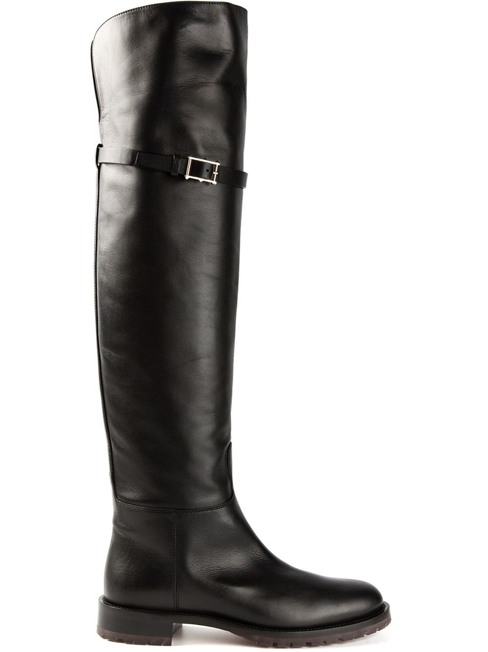 valentino knee high boots in black lyst