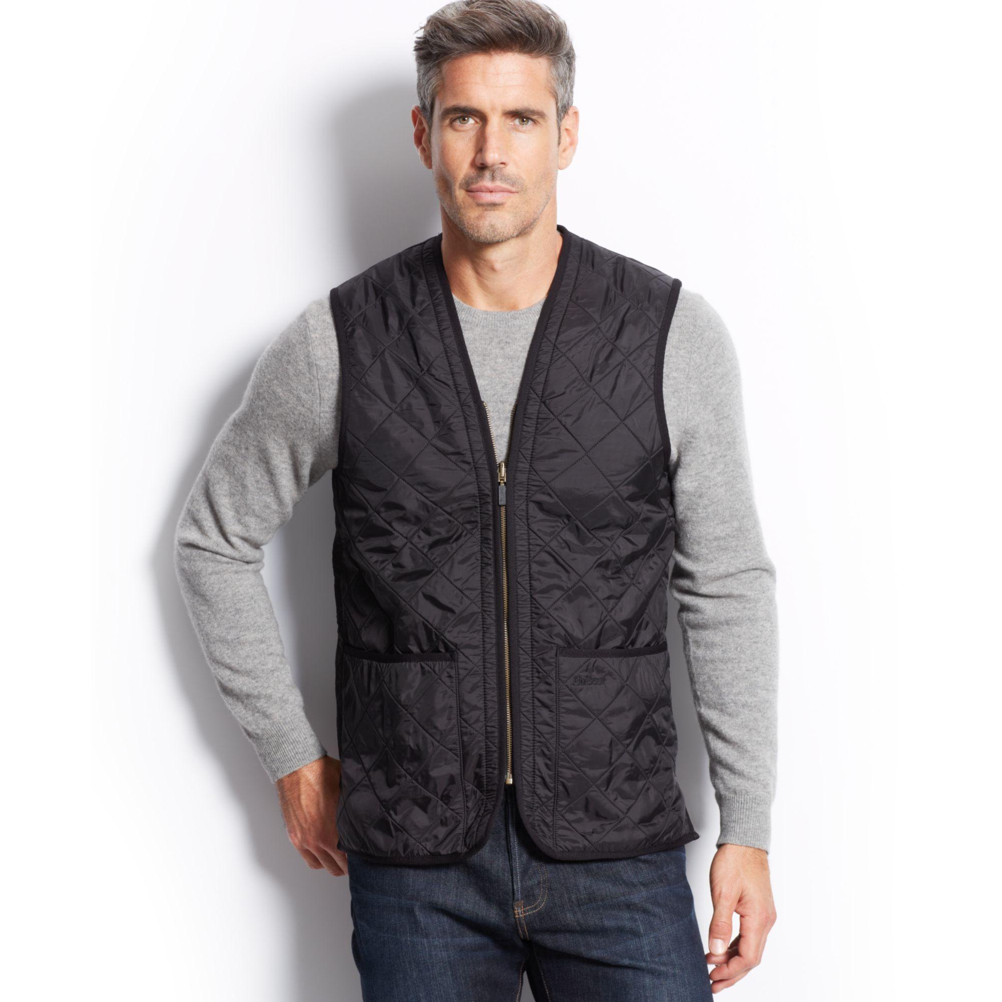 Barbour Polarquilt Waistcoat Zip In Liner In Black For Men
