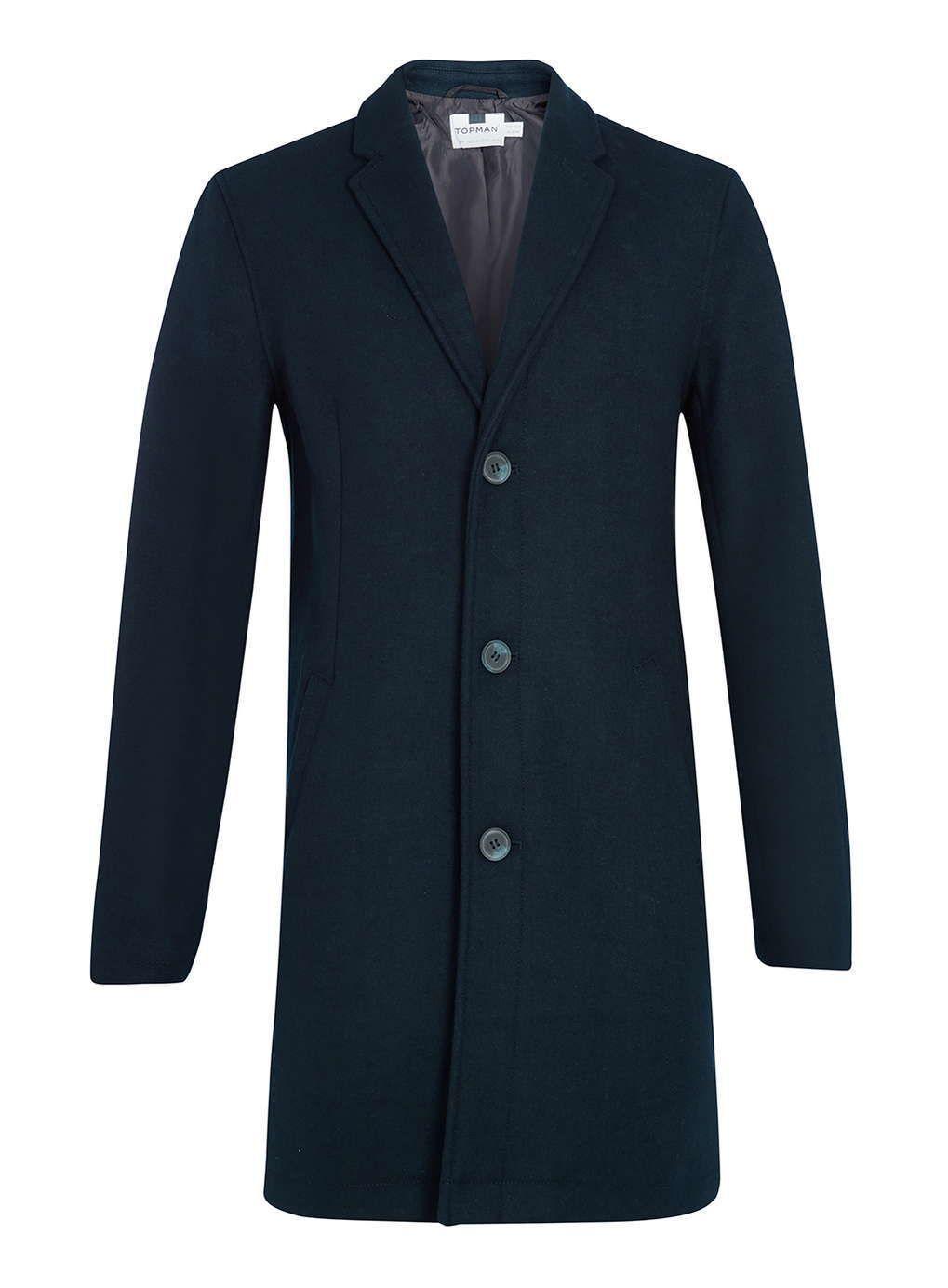 Navy blue overcoat