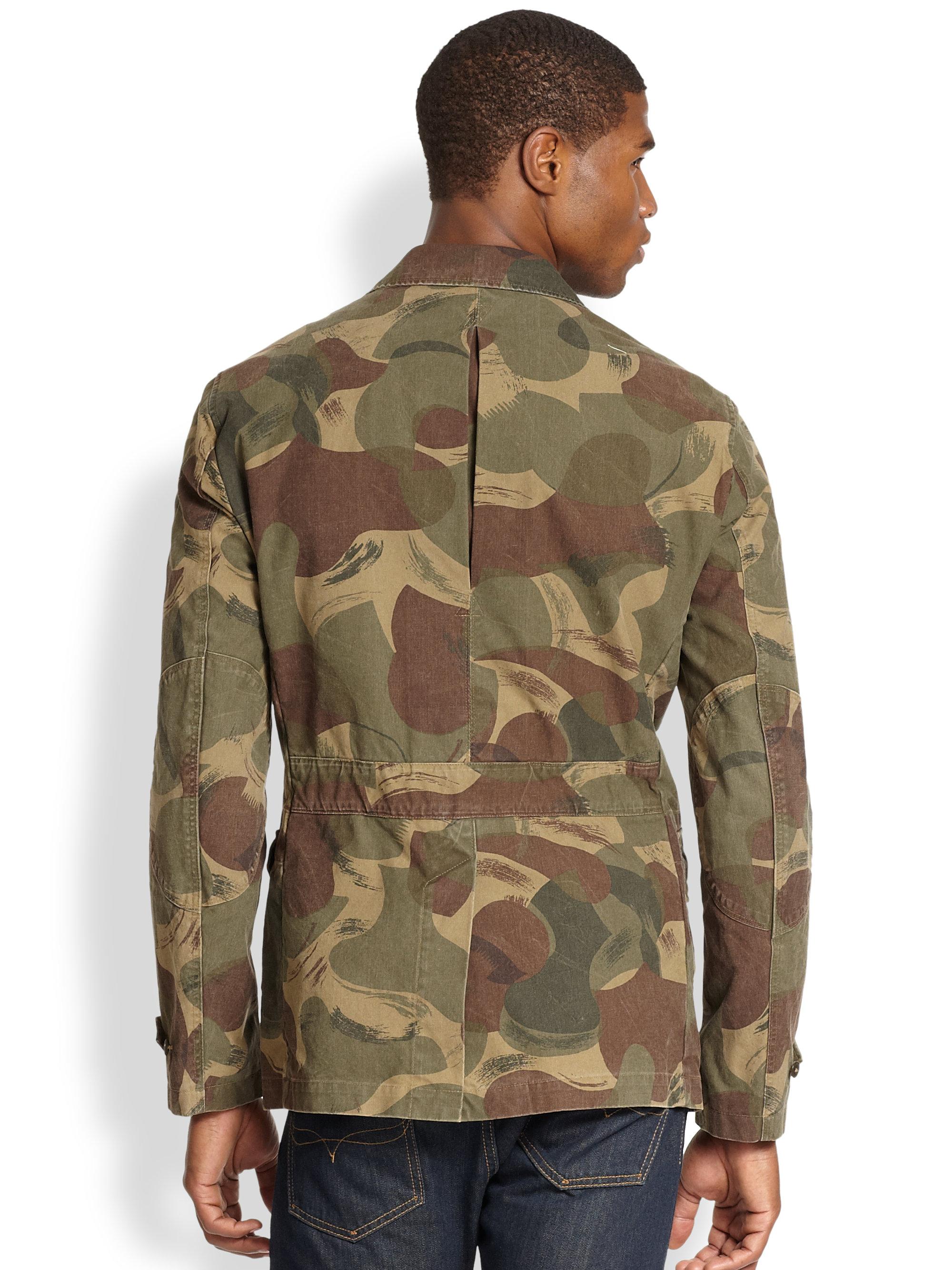 8b5f801c38 Lyst - Polo Ralph Lauren Desert Camo Sportcoat in Green for Men