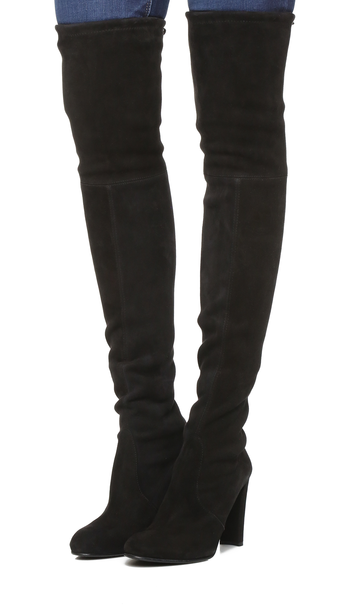 Stuart Weitzman Highland Stretch Suede Over The Knee Boots