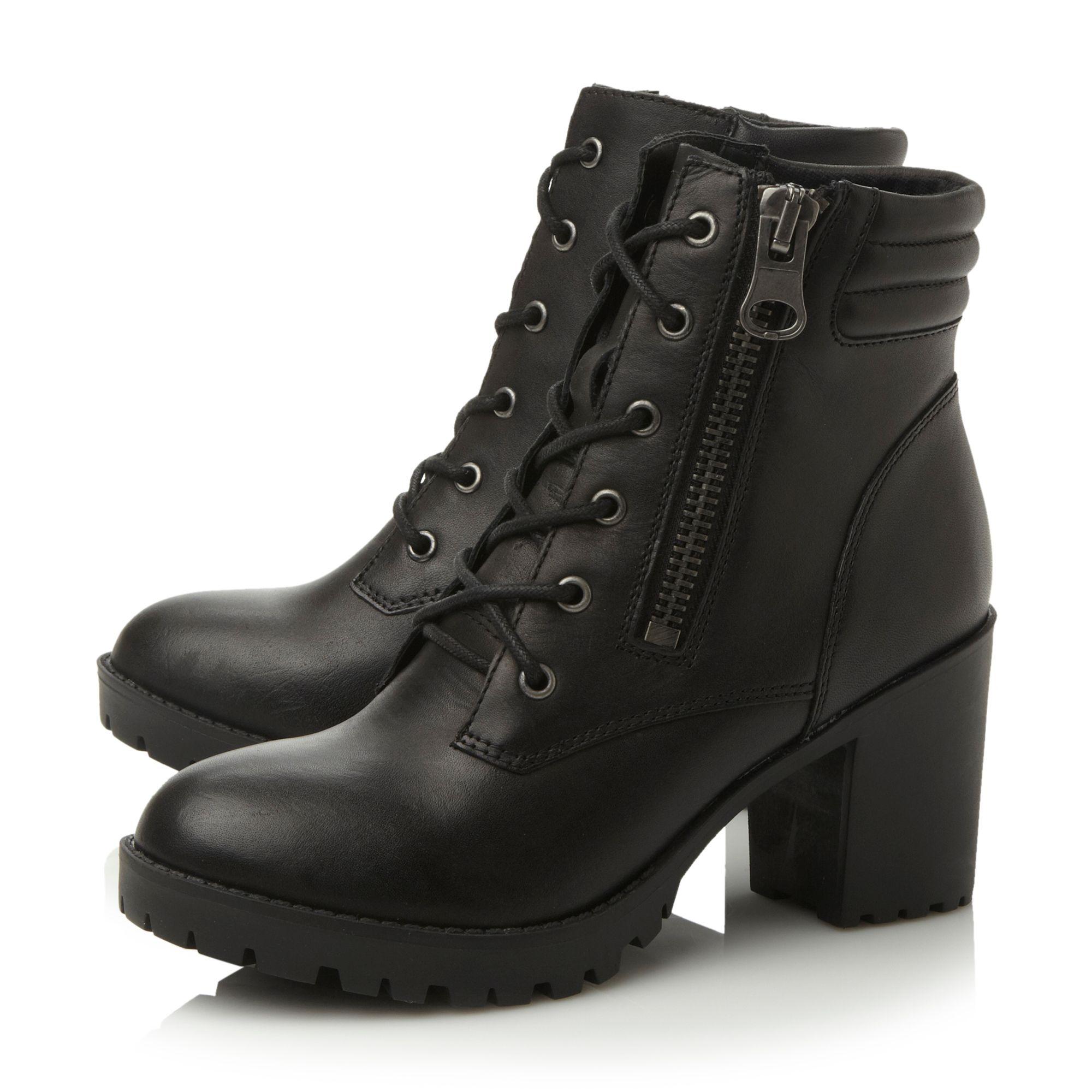 Steve Madden Black Lace Up Shoes