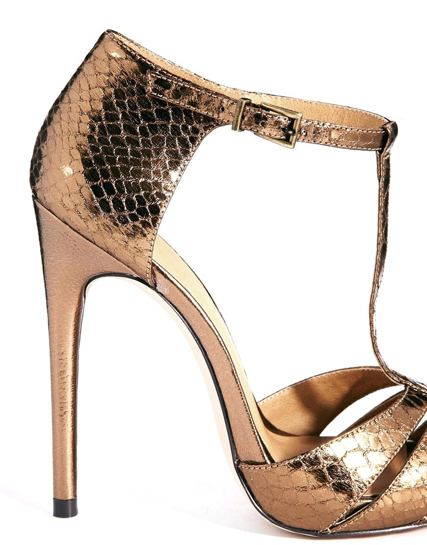 Bronze High Heels - Is Heel