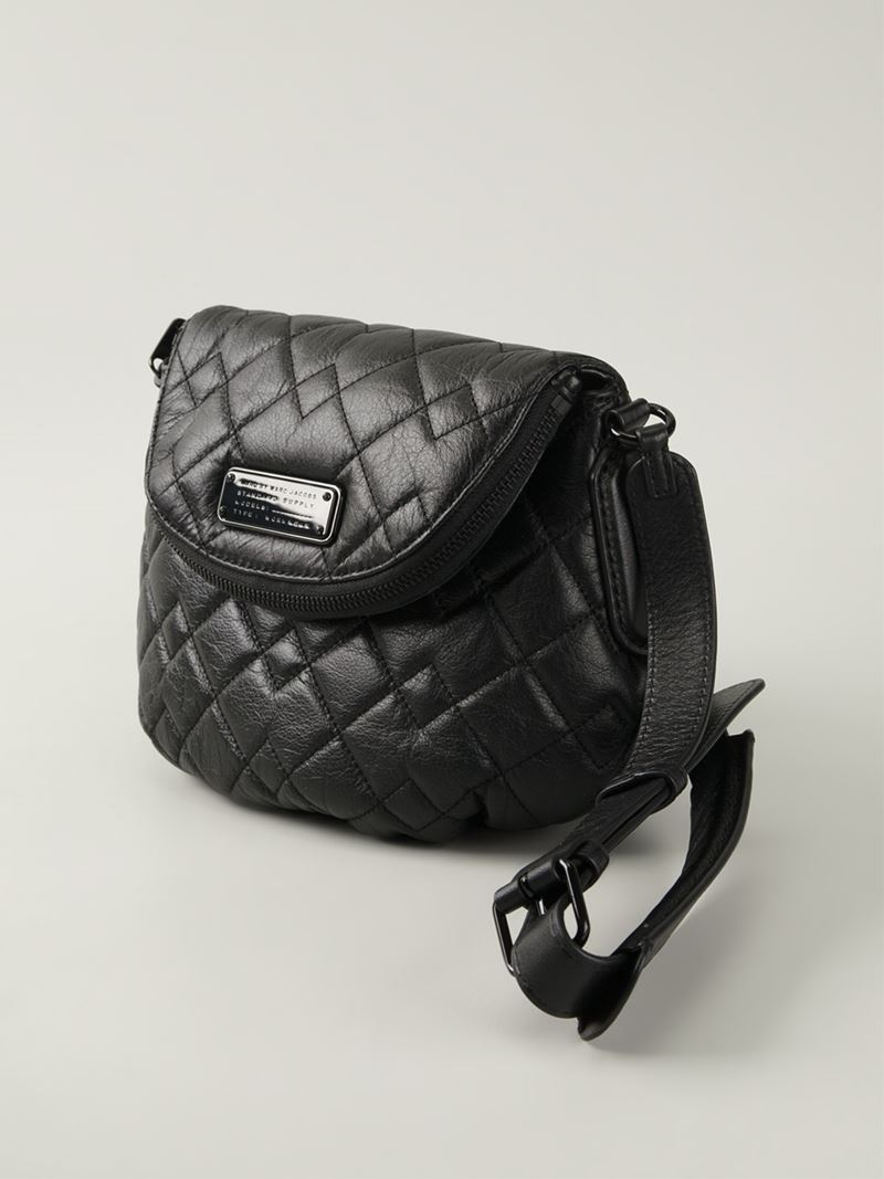 Marc By Marc Jacobs New Q Quilted Natasha Leather Cross-Body Bag in Black