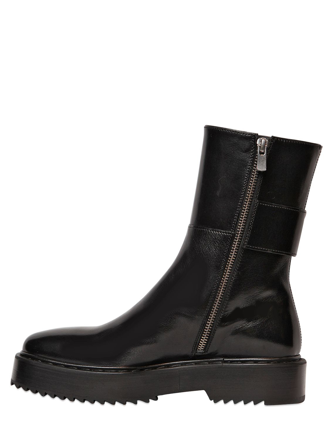 Officine Creative 30mm Leather Boots in Black