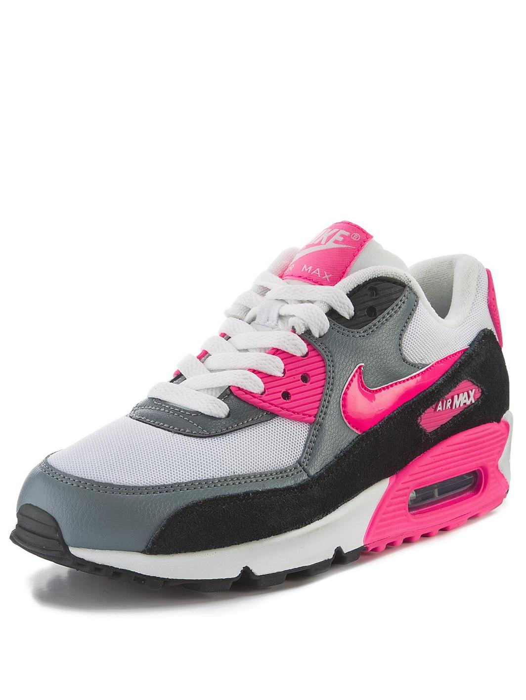nike air max 90 essential trainers in pink for men white pink black lyst. Black Bedroom Furniture Sets. Home Design Ideas