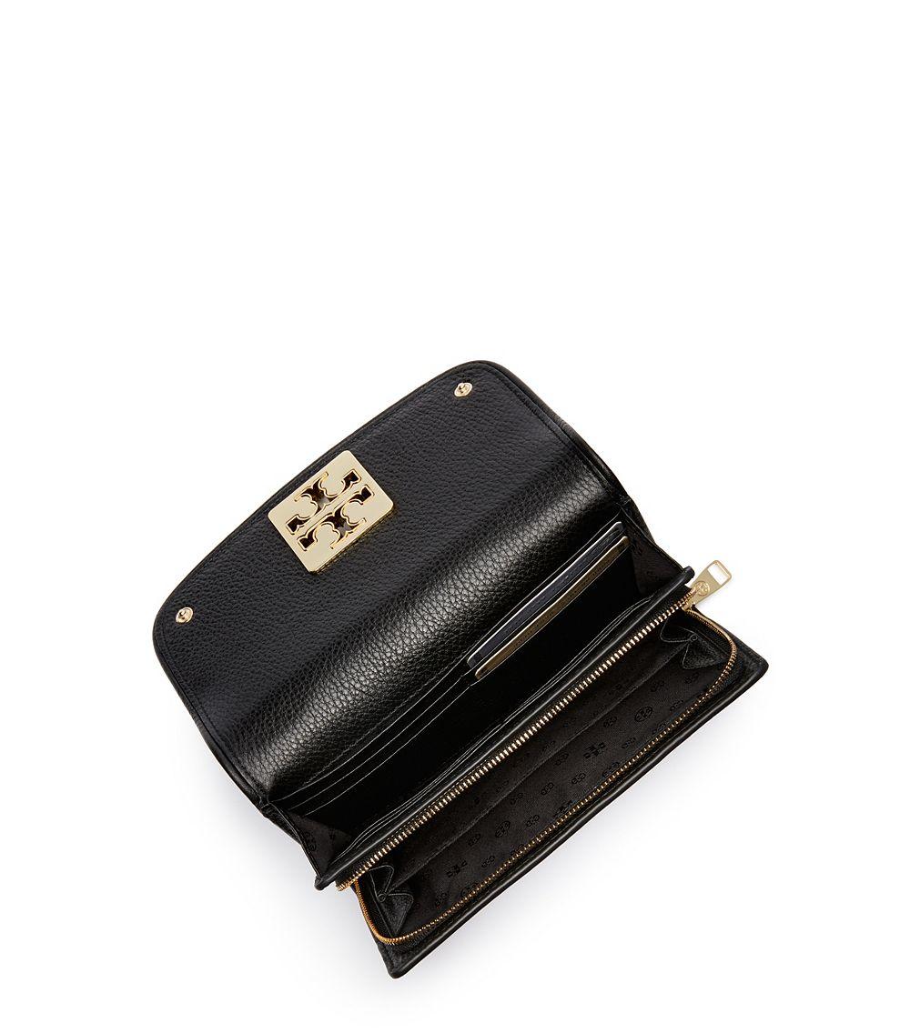 99fd8e0993 Tory Burch Britten Duo Envelope Continental Wallet in Black - Lyst