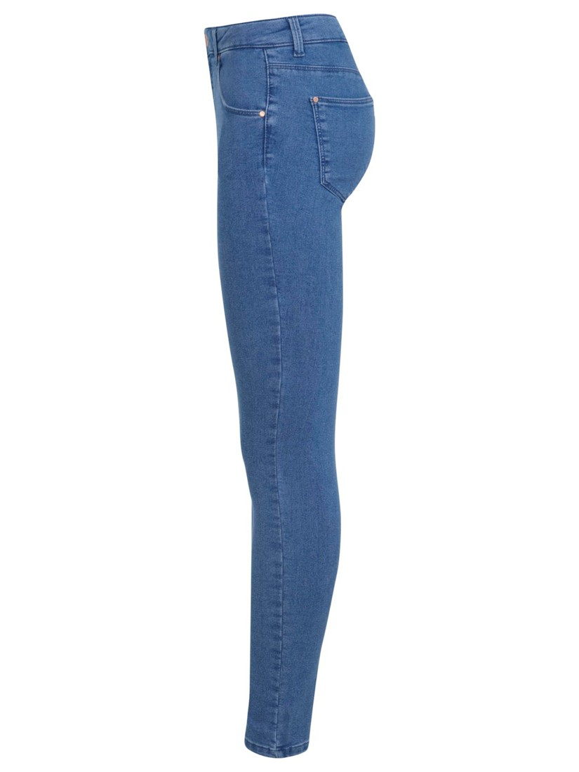 Miss Selfridge Sophia Skinny Jeans in Mid Wash Denim (Blue)