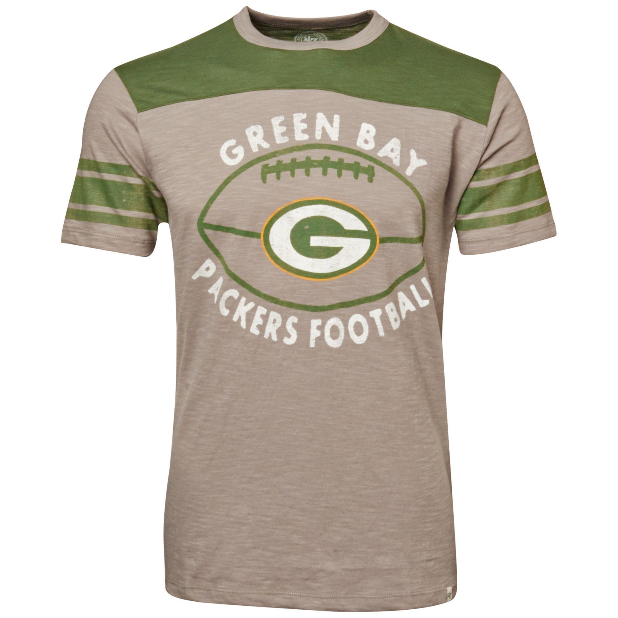 93bda58f3 Lyst - 47 Brand Mens Green Bay Packers Top Gun Tshirt in Gray for Men