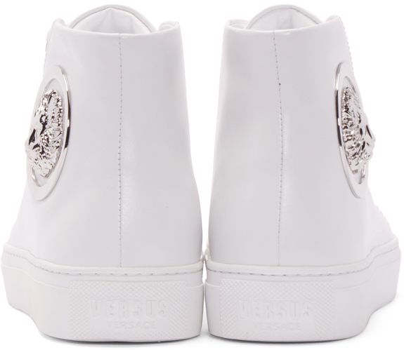 Versus White Lion High-top Sneakers