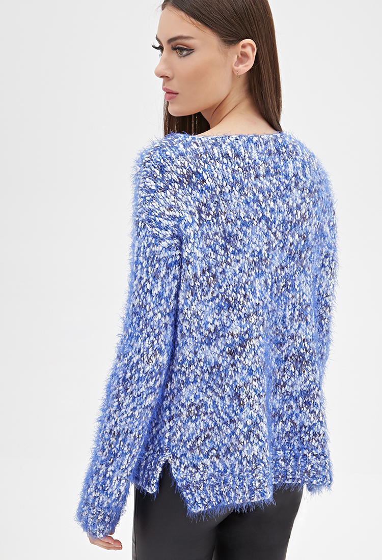 fc7f028c26d409 Lyst - Forever 21 Fuzzy Marled Knit Sweater You ve Been Added To The ...
