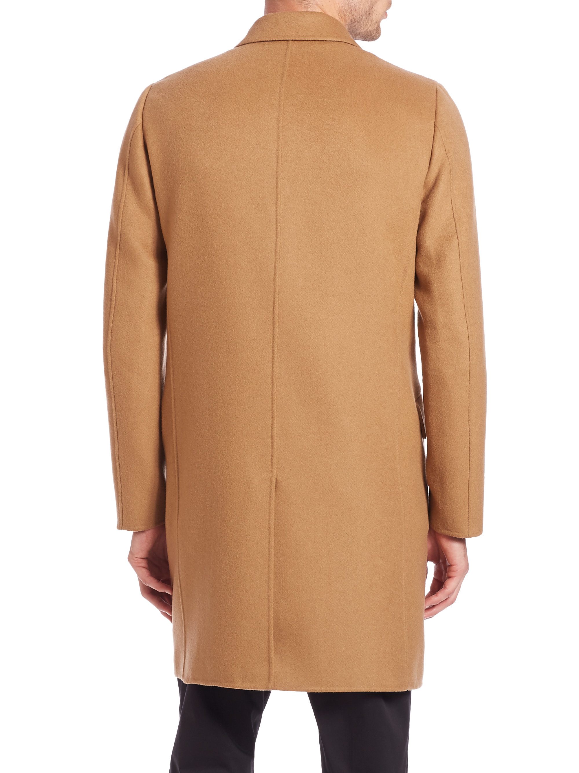 Theory Double Faced Cashmere Coat in Brown for Men | Lyst