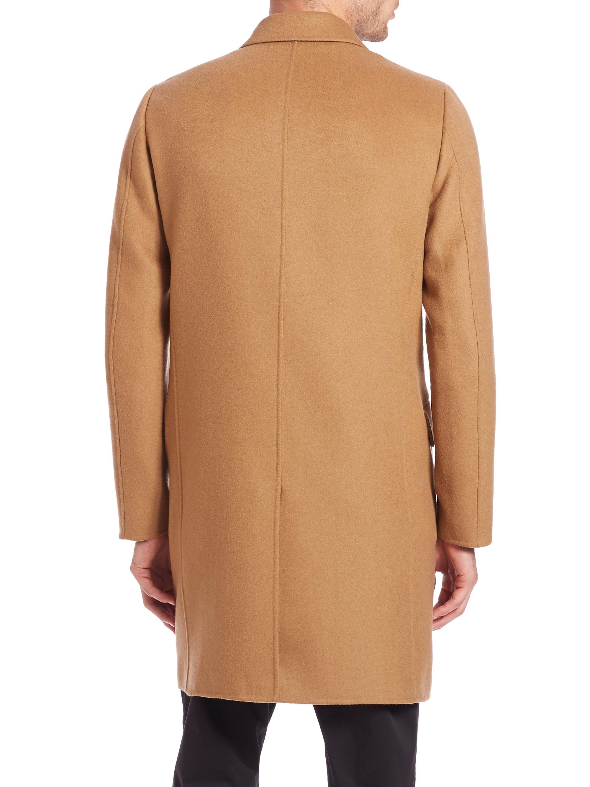 tan cashmere coat jacketin
