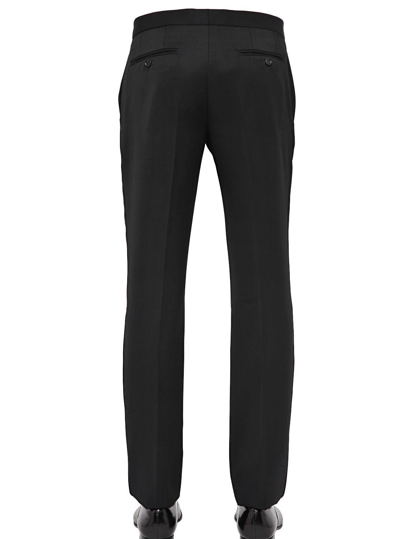 Burberry Prorsum 19cm Virgin Wool Tuxedo Trousers in Black for Men