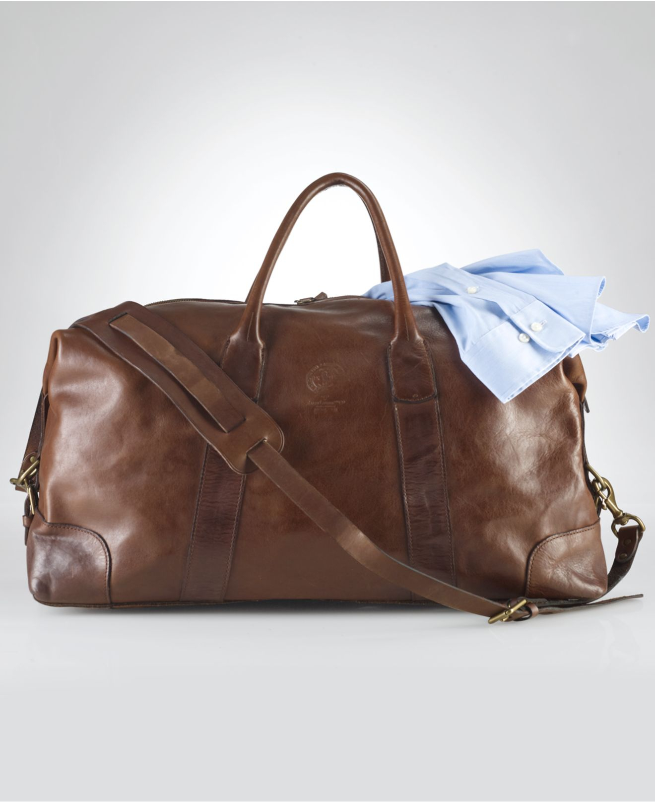 9d5356b474e0 Lyst - Polo Ralph Lauren Core Leather Duffle Bag in Brown for Men
