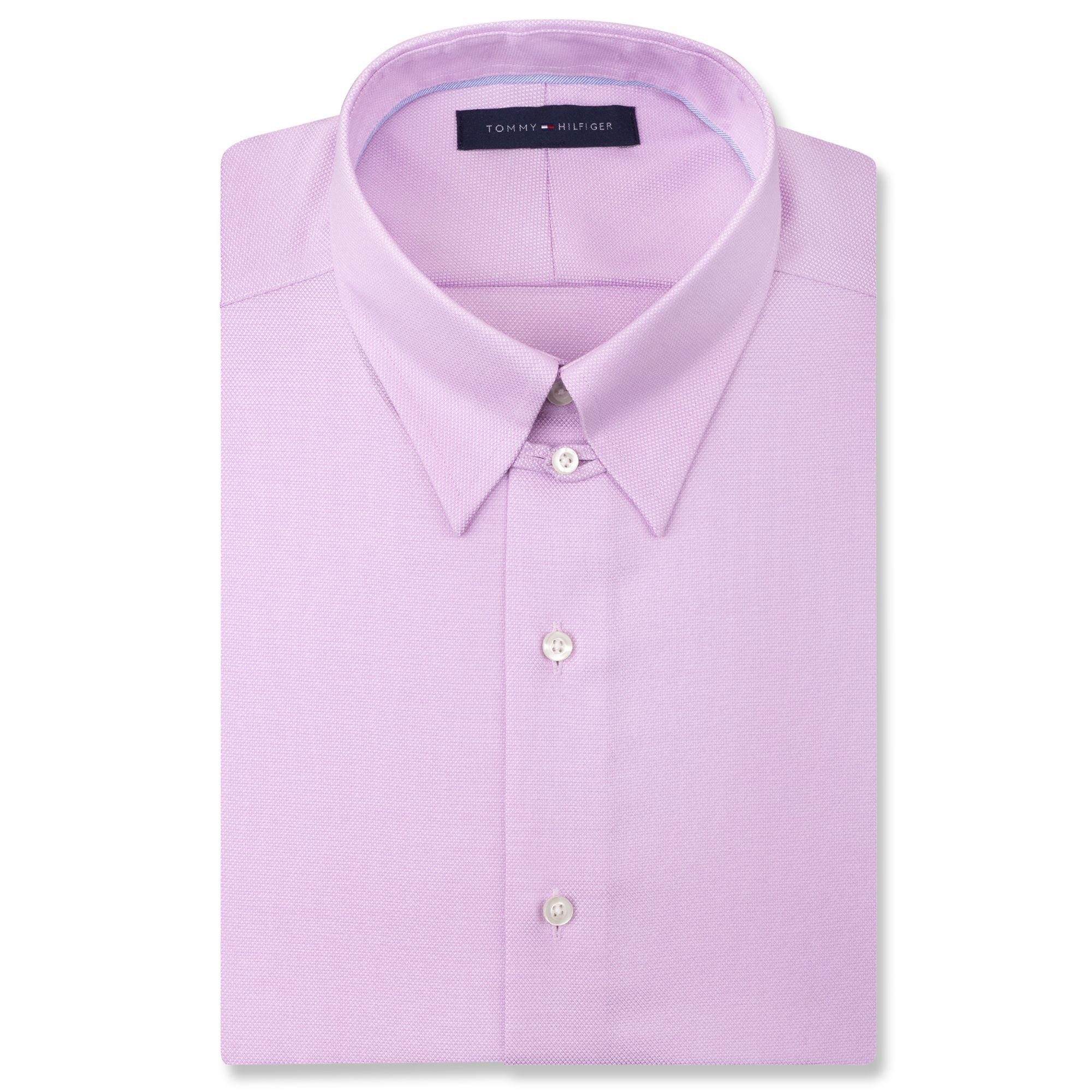 c0e00cf4 Tommy Hilfiger Noiron Gatsby Lavender Solid Tab Collar Dress Shirt ...