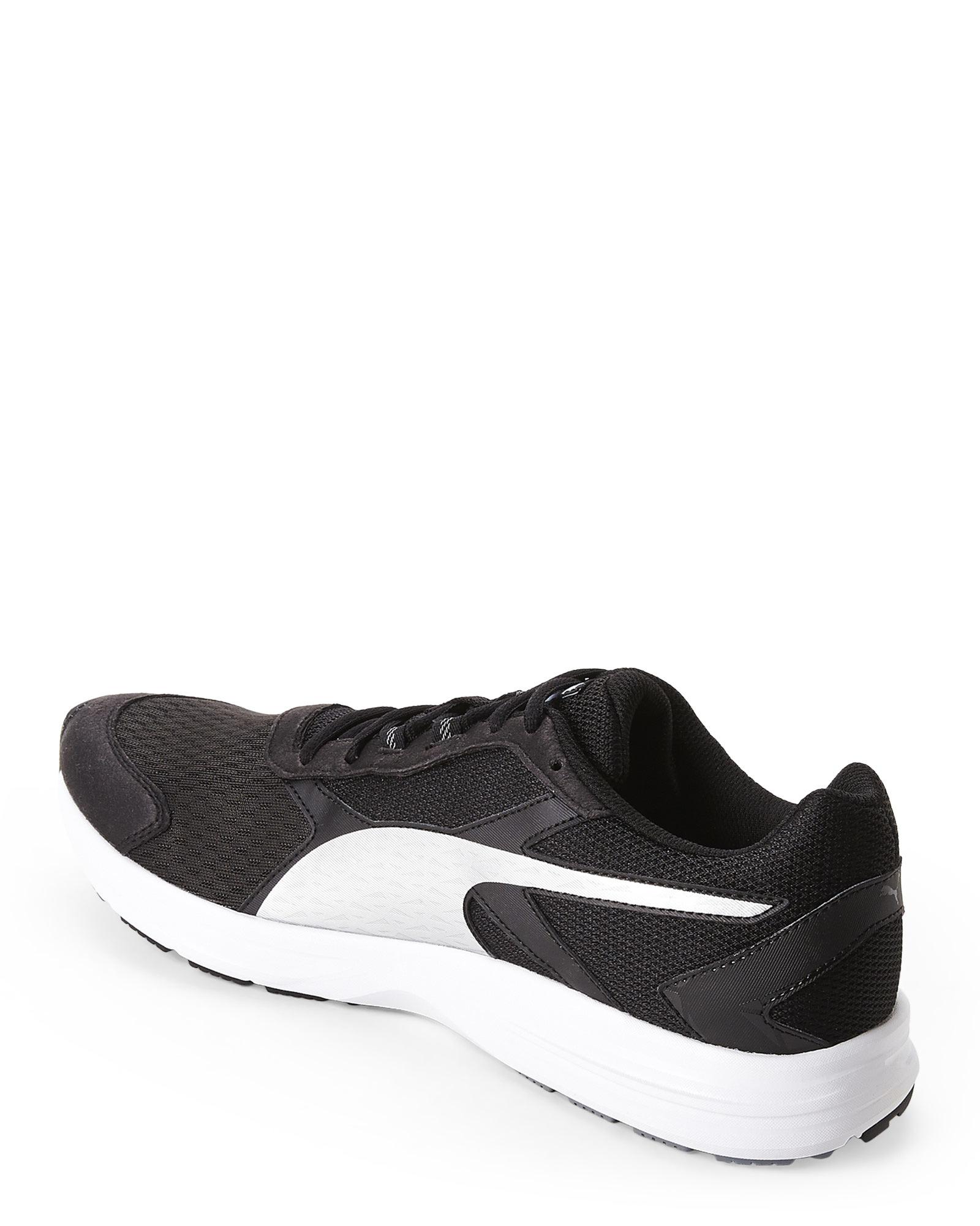 b8740491b5b69e Lyst - PUMA Black   Silver Descendant V3 Running Sneakers in Black ...