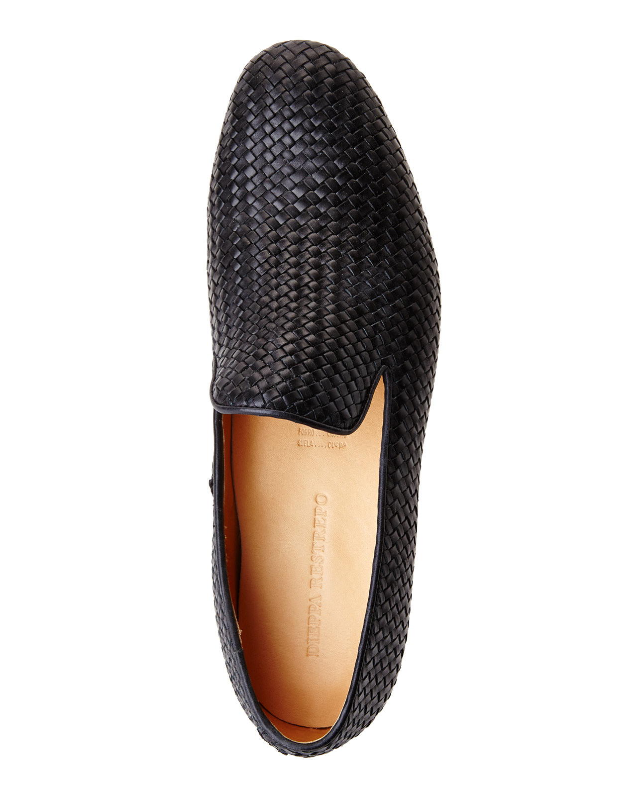 Dieppa Restrepo Black Woven Loafers for Men - Lyst