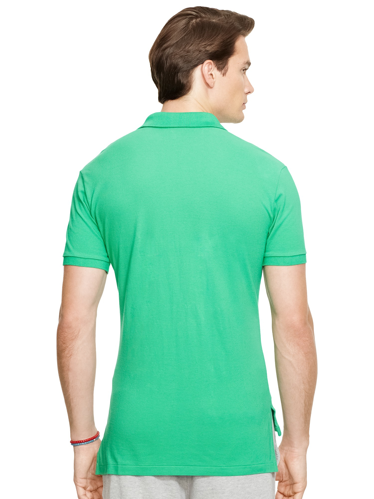 Pink Pony Polo Custom Fit Mesh Polo Shirt in Green for Men