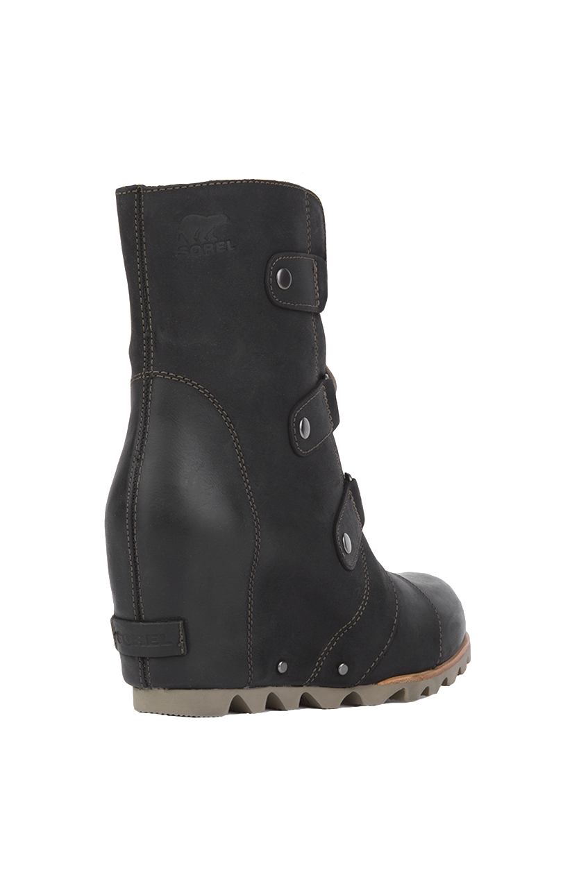 sorel s joan of arctic wedge mid boots in black lyst