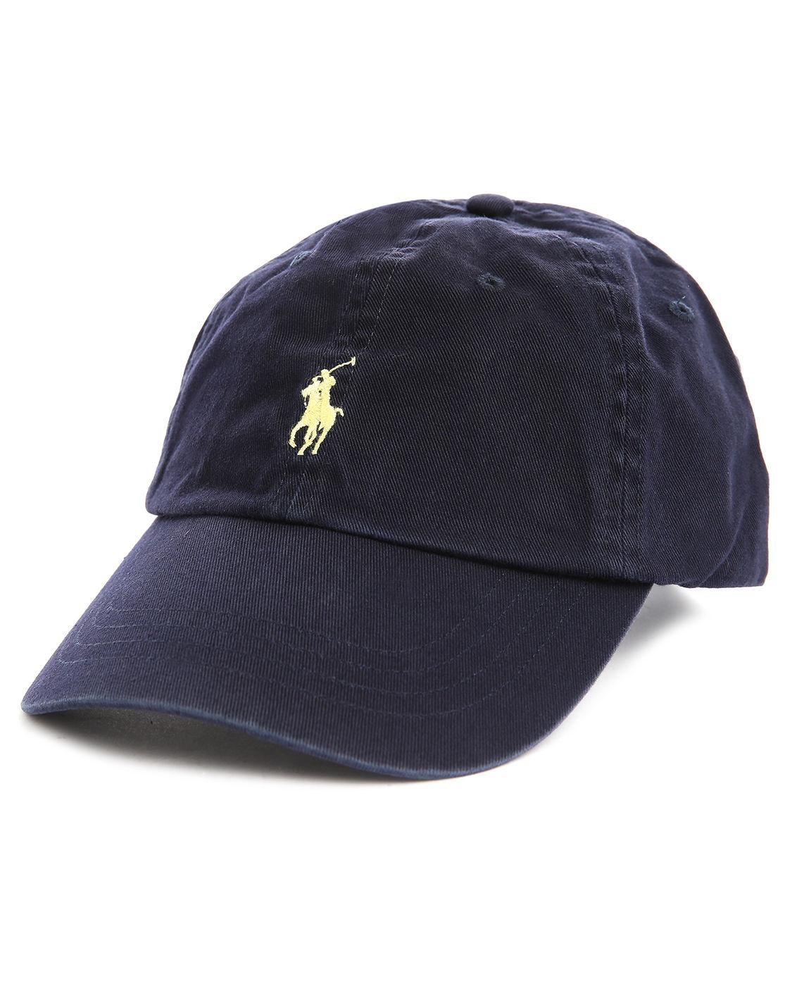 polo ralph lauren navy blue classic sport cap in blue for men lyst. Black Bedroom Furniture Sets. Home Design Ideas