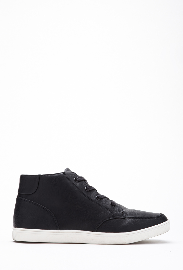Faux Leather High-Top Sneakers 21 Men