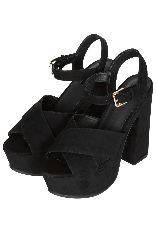 topshop black platform sandals