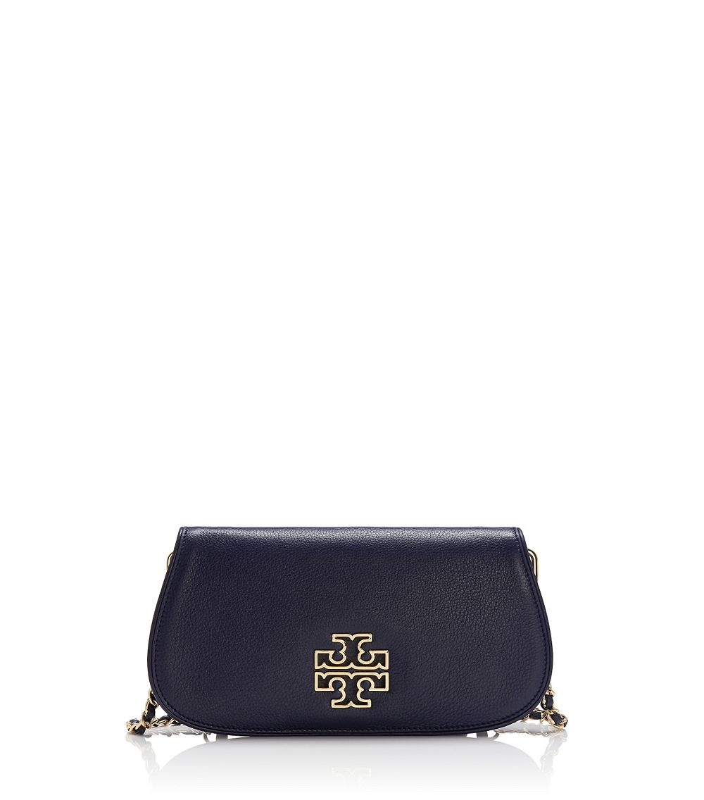 c0981c64720b Lyst - Tory Burch Britten Clutch in Blue