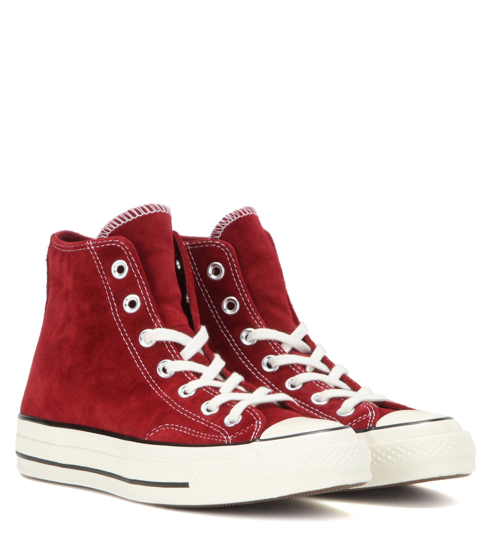 Converse Chuck Taylor Suede High-Top Sneakers In Red - Lyst-8859