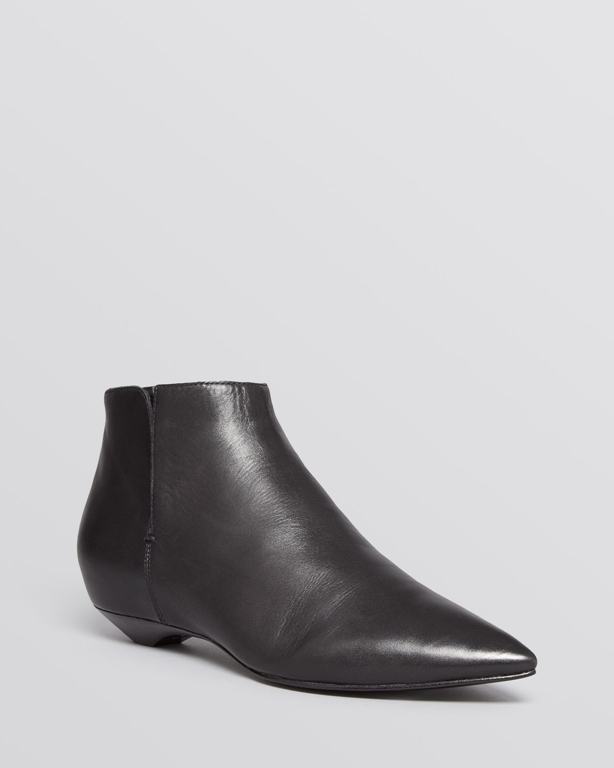 sigerson morrison pointed toe flat booties gabrielle in
