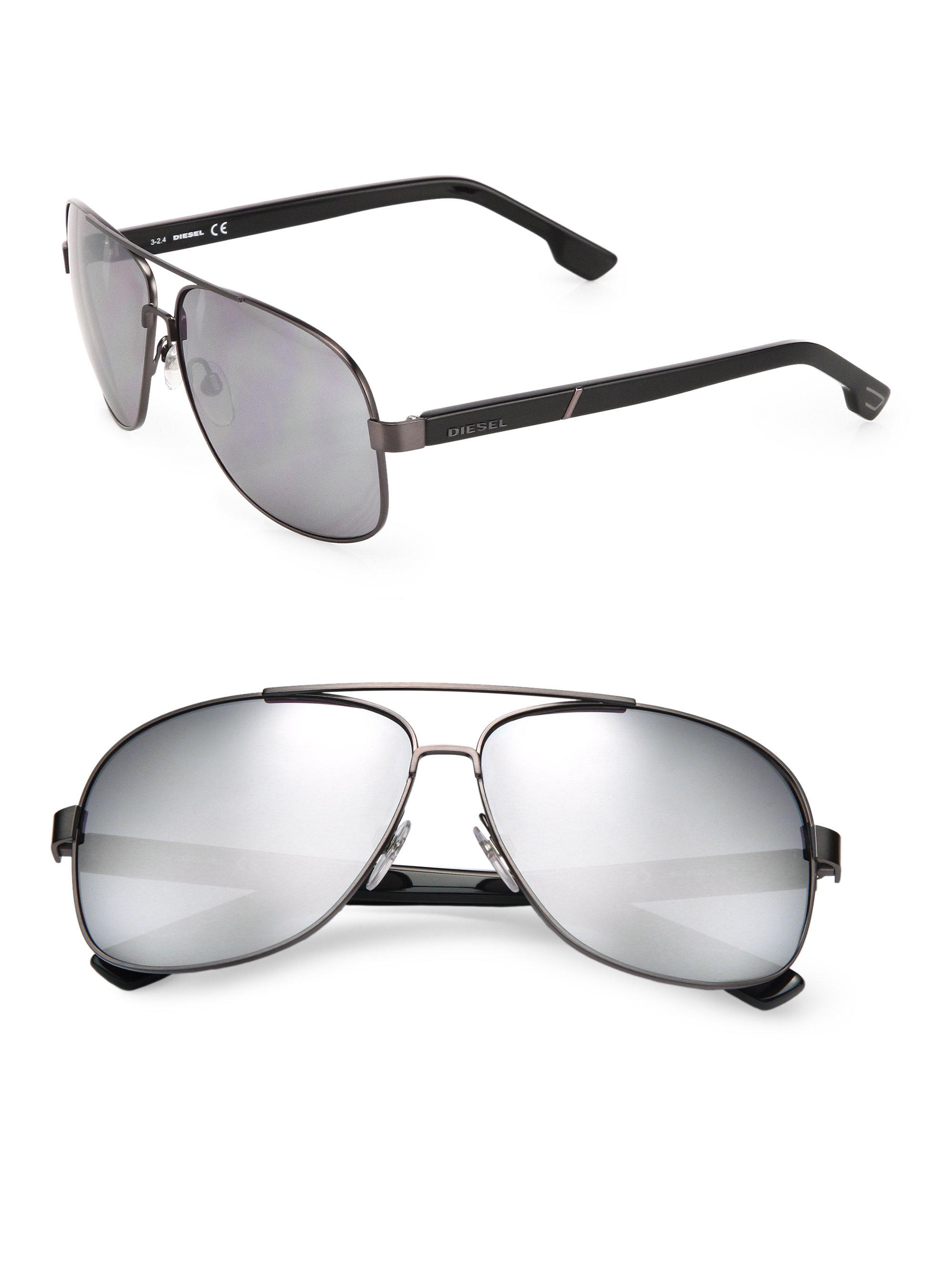 f44cefa87121 Oversized Rimless Aviator Sunglasses