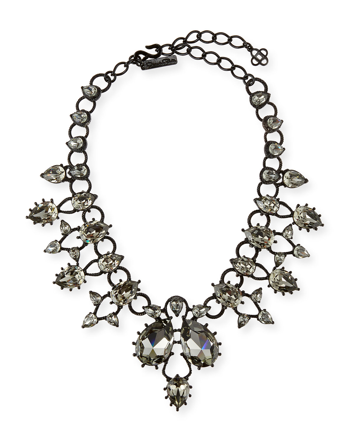 Oscar De La Renta Crystal Statement Necklace dyEfuvaGpd
