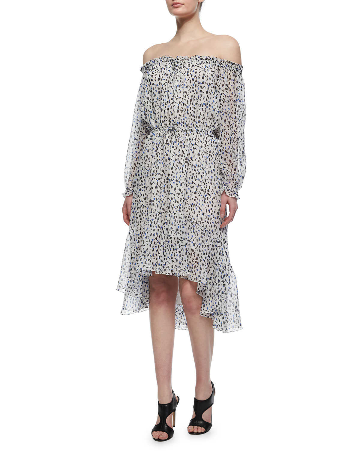 Diane von furstenberg camila animal print silk dress in for Diane von furstenberg clothes