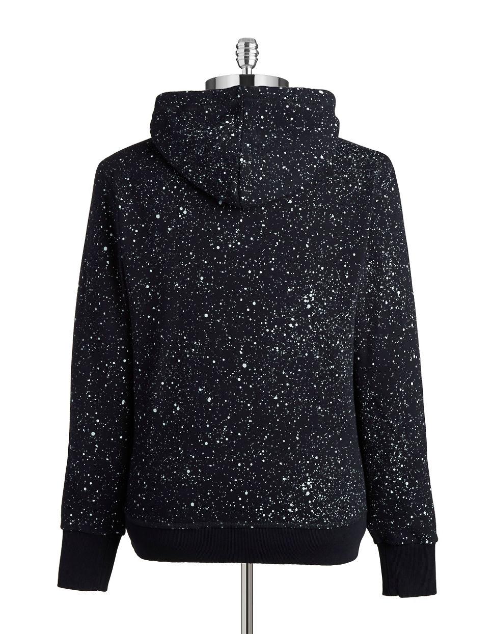 g star raw splattered hoodie in blue for men lyst. Black Bedroom Furniture Sets. Home Design Ideas