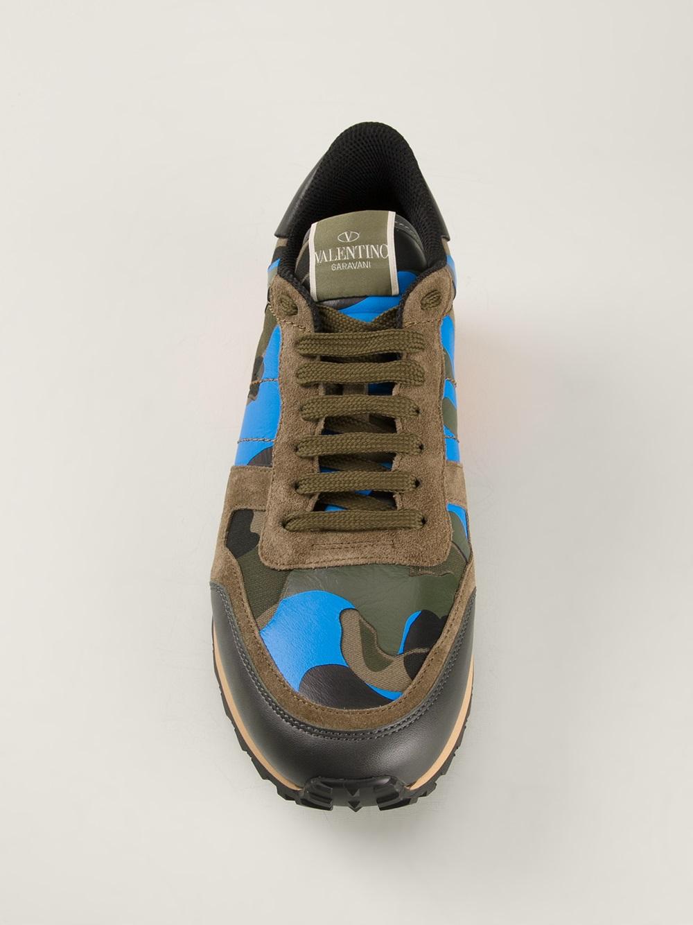 589b1445c7 Valentino Green Rockstud Sneakers for men
