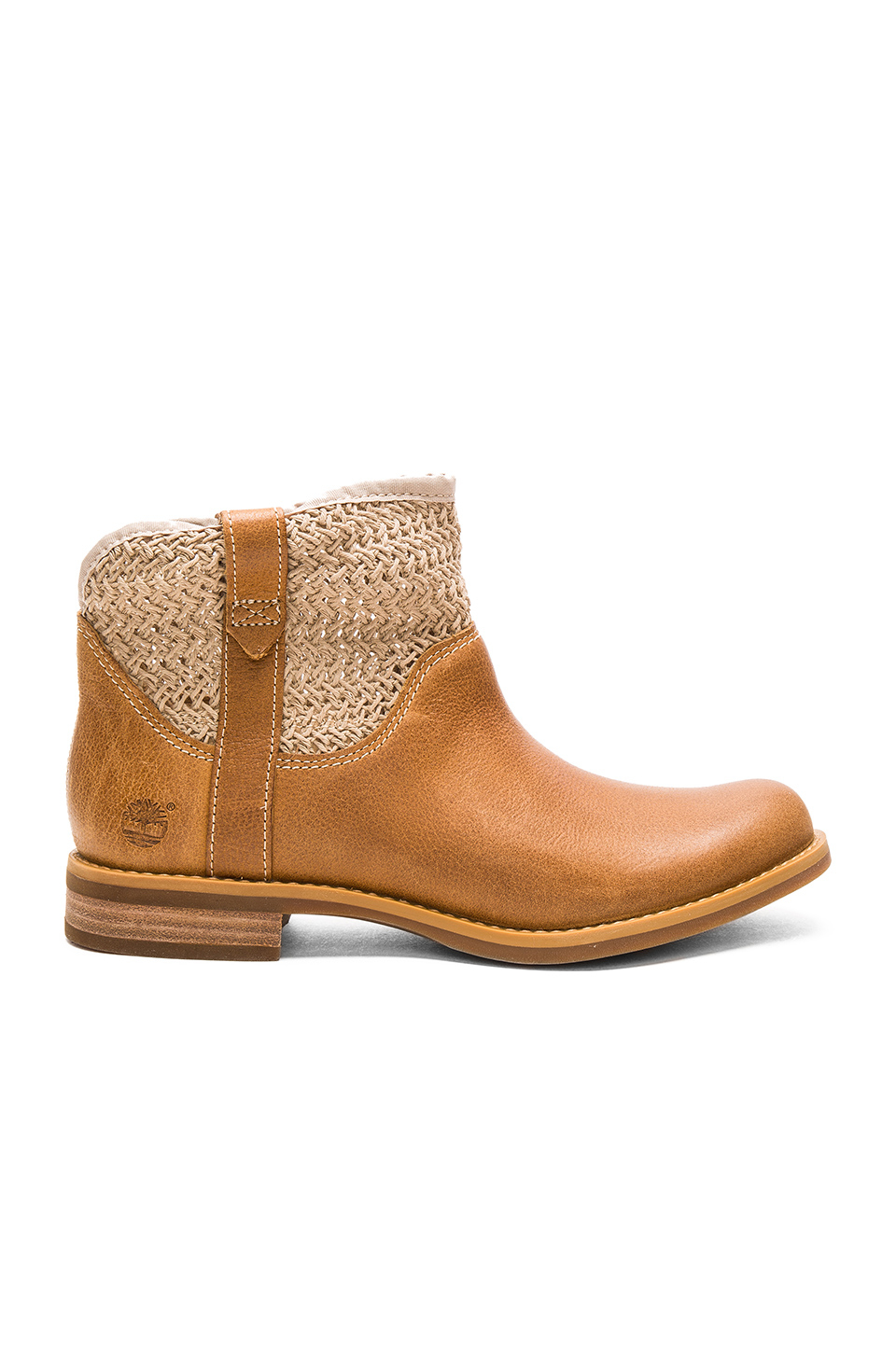 timberland savin hill leather fabric ankle boot in brown