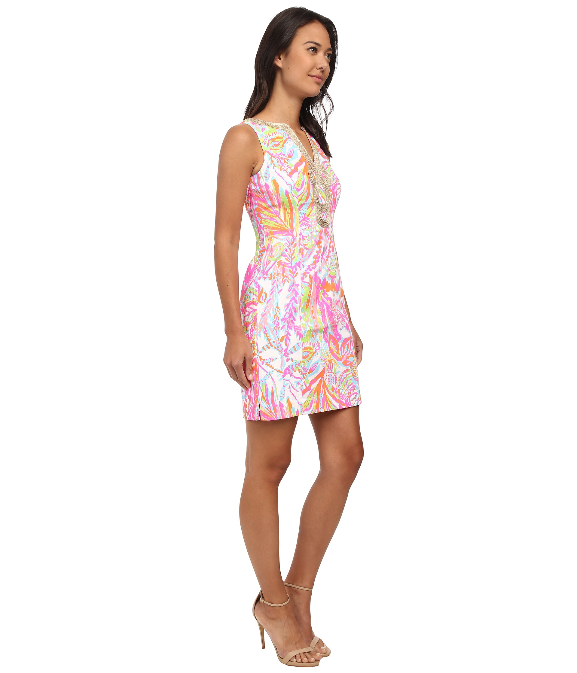 fe4f2342f628c8 Lilly Pulitzer Janice Shift Dress in Pink - Lyst
