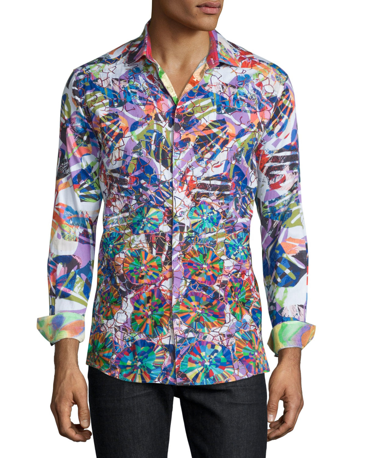 Robert graham limited edition allover printed sport shirt for Robert graham sport shirt