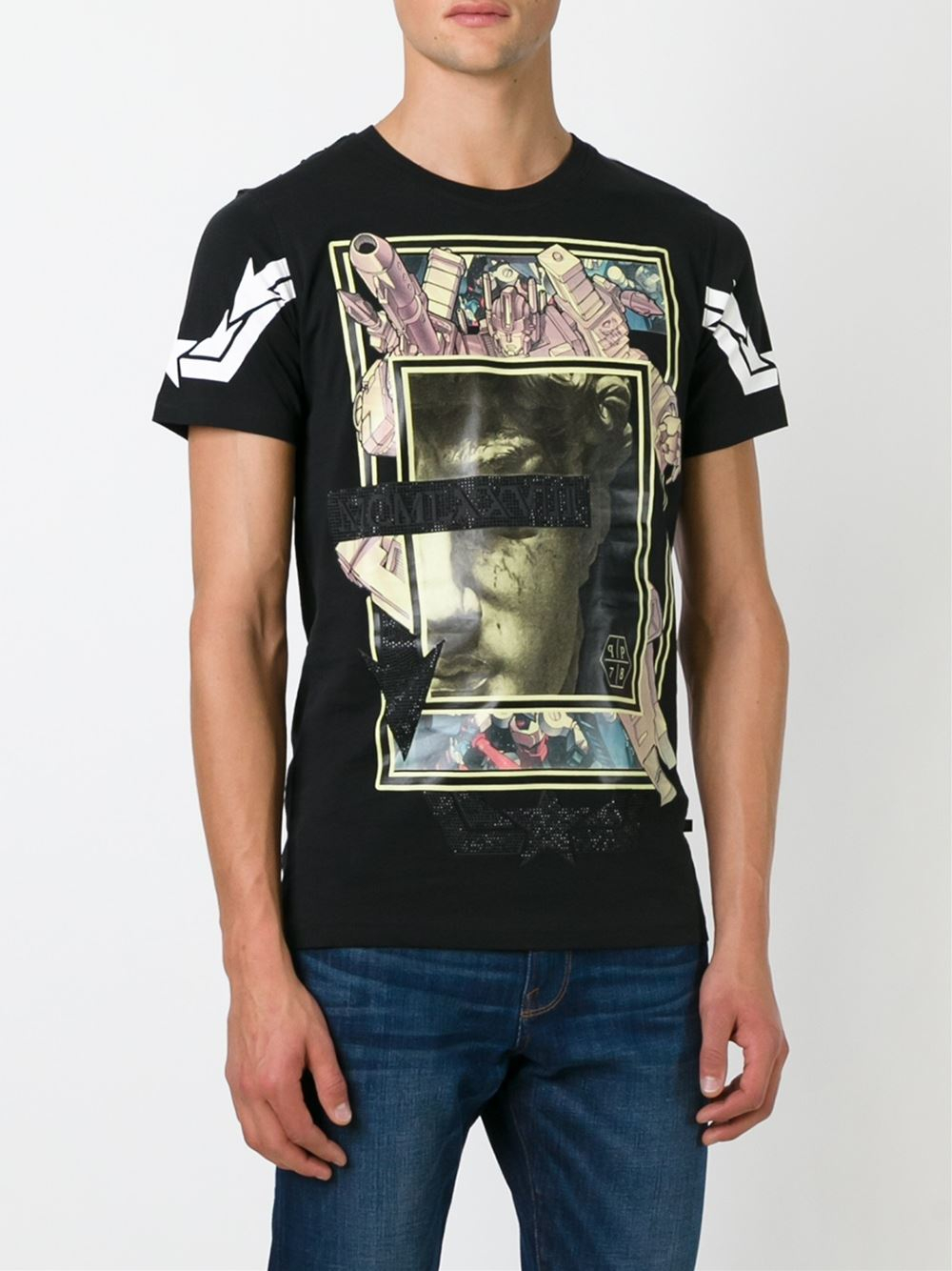 lyst philipp plein 39 tech baroque 39 t shirt in black for men. Black Bedroom Furniture Sets. Home Design Ideas