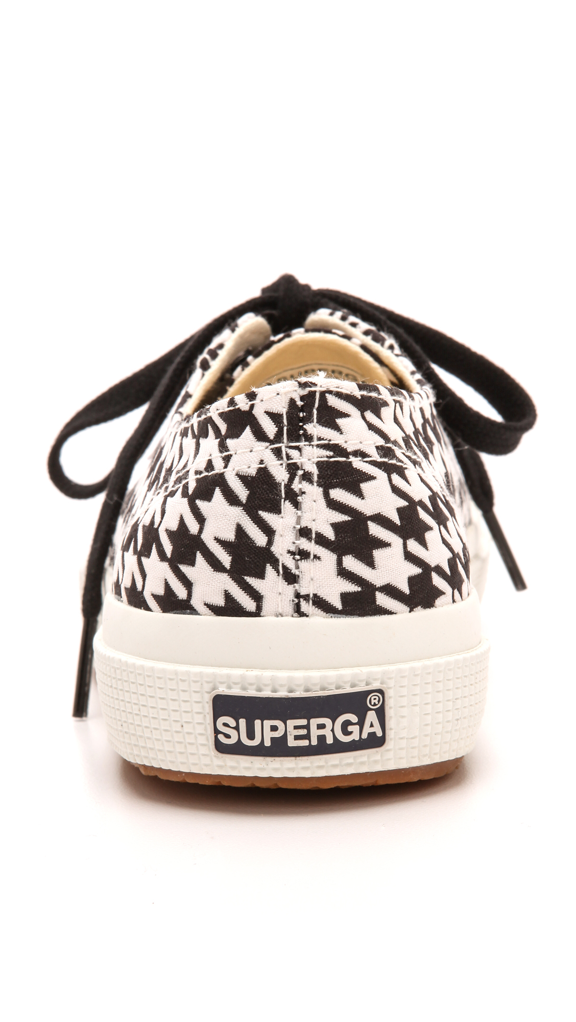 Superga Houndstooth Canvas Sneakers in Black/White (Black)