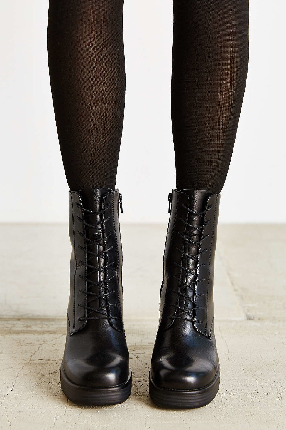 Lyst Vagabond Tyra Lace Up Boot In Black