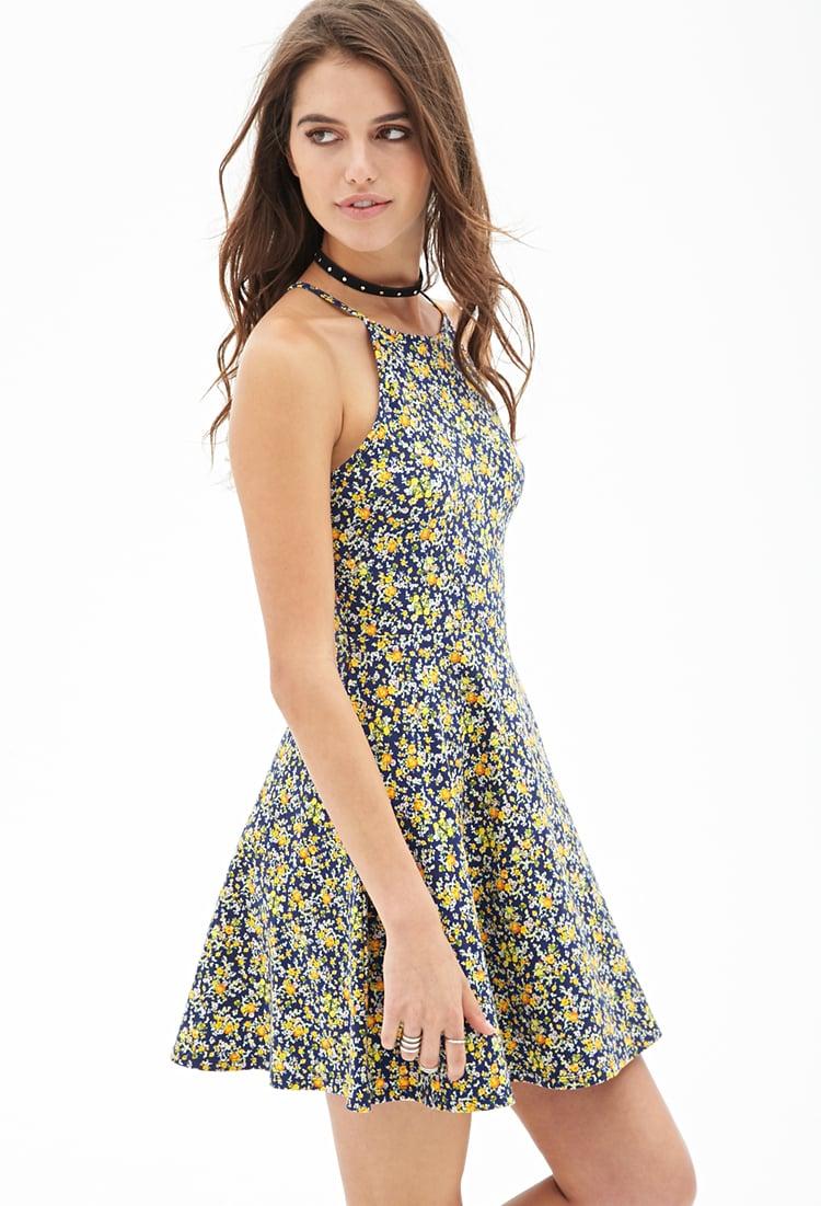 Forever 21 Ditsy Floral Skater Dress | Lyst