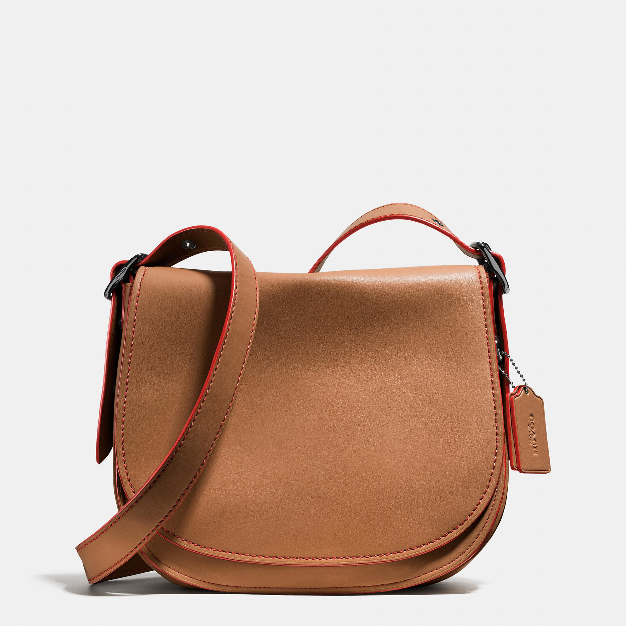ccf17e1ef817 Lyst - COACH Saddle Bag In Glovetanned Leather in Brown